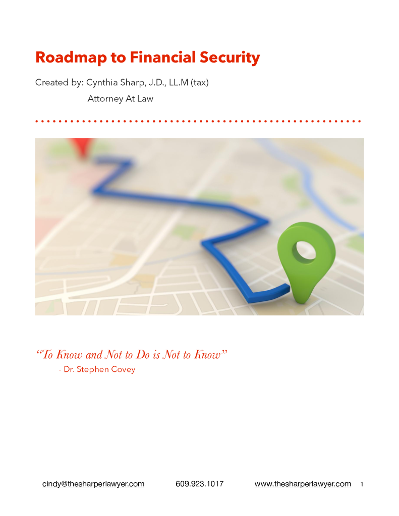 ROADMAP TO FINANCIAL SECURITY HANDOUT